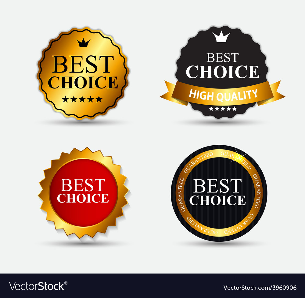 Best choice label set vector | Price: 1 Credit (USD $1)