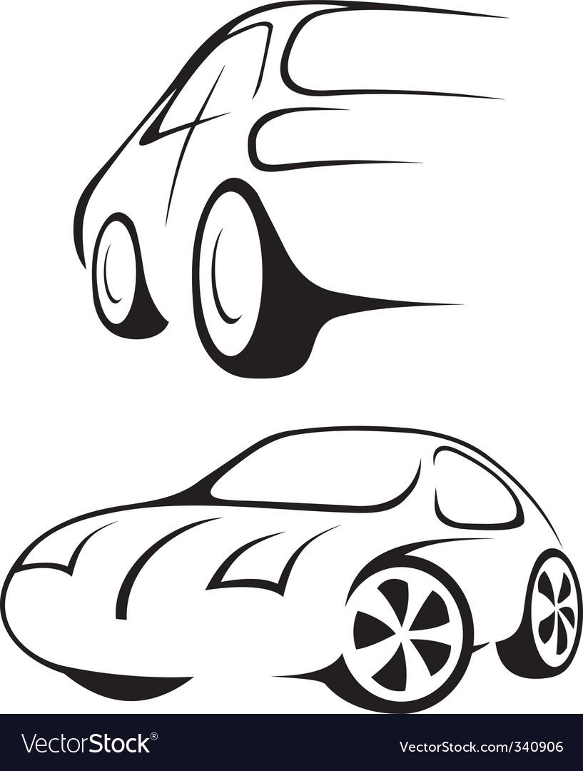Car line drawing vector | Price: 1 Credit (USD $1)