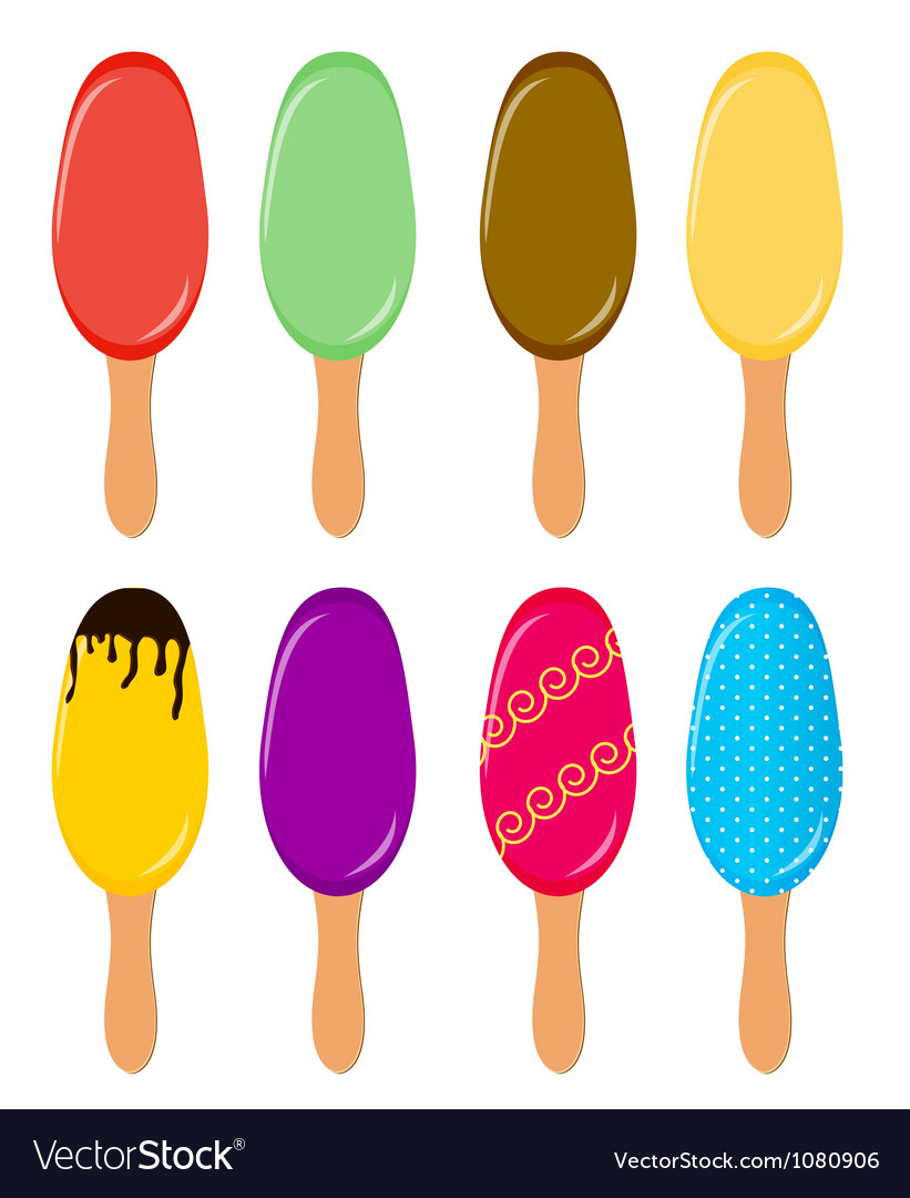 Colorful popsicles vector | Price: 1 Credit (USD $1)