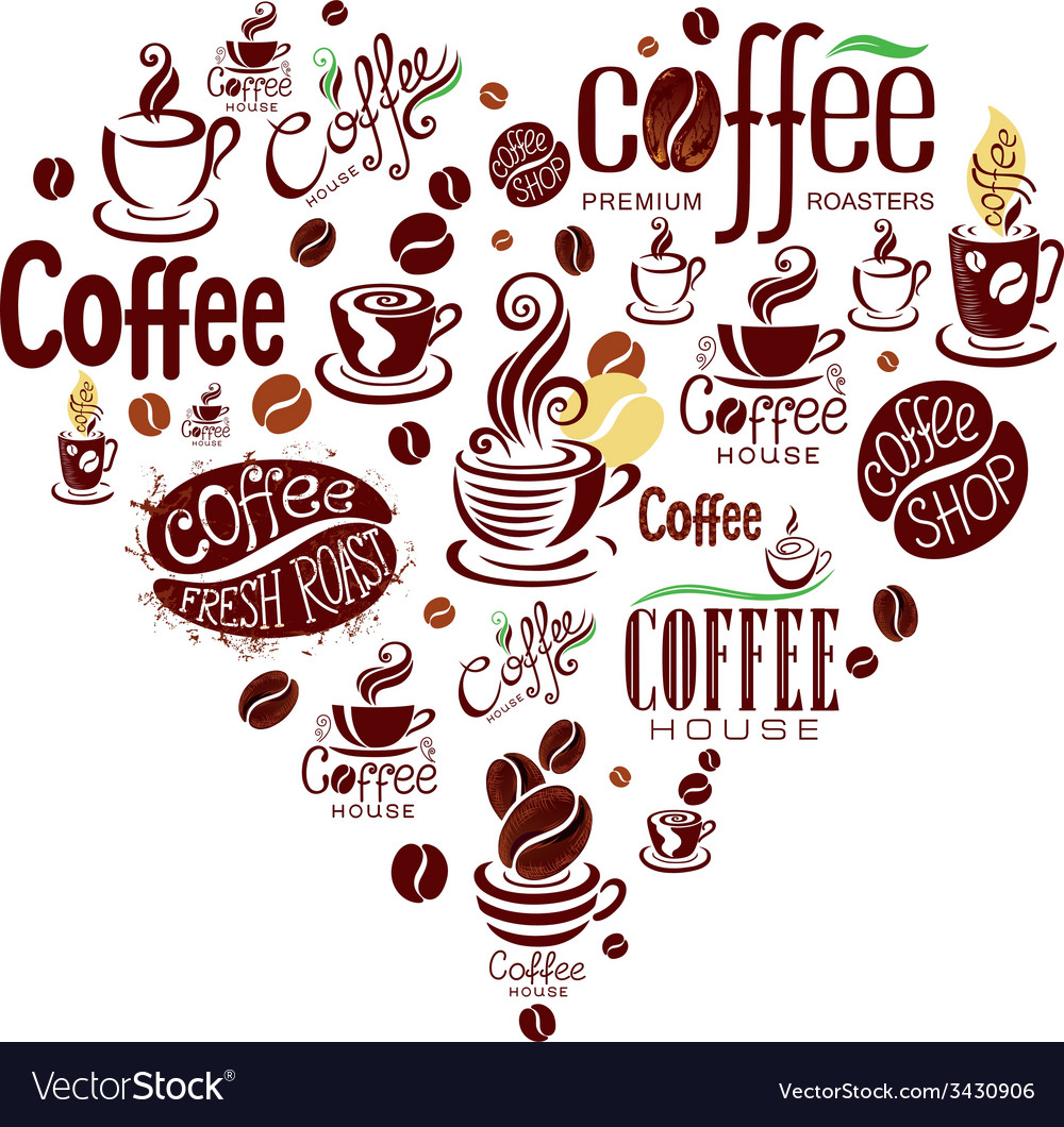 Conceptual background with coffee design elements vector | Price: 1 Credit (USD $1)