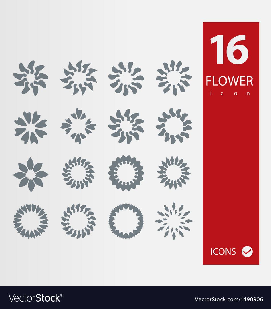 Flower icons vector | Price: 1 Credit (USD $1)