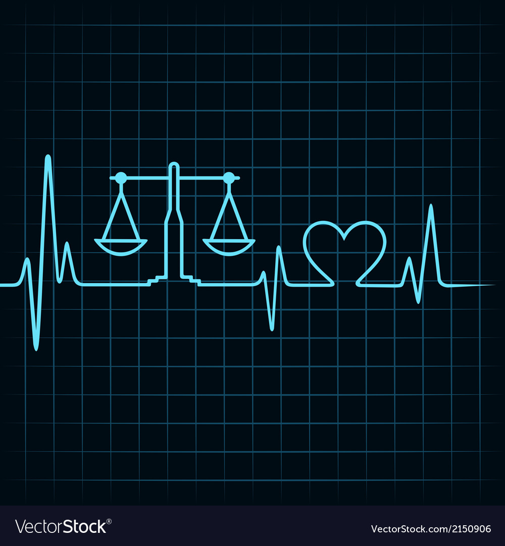 Heartbeat make a weighing machine and heart symbol vector | Price: 1 Credit (USD $1)