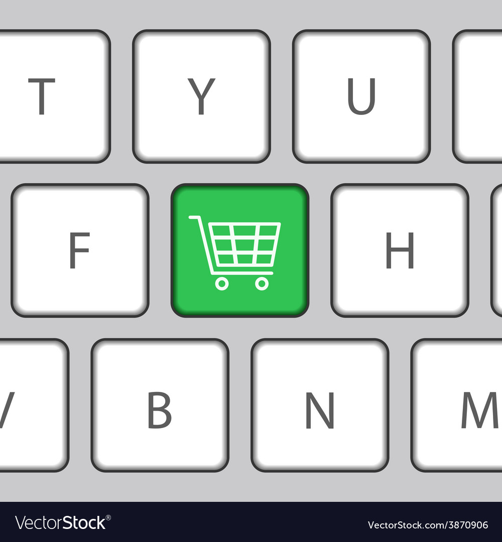 Keyboard with shopping cart vector | Price: 1 Credit (USD $1)