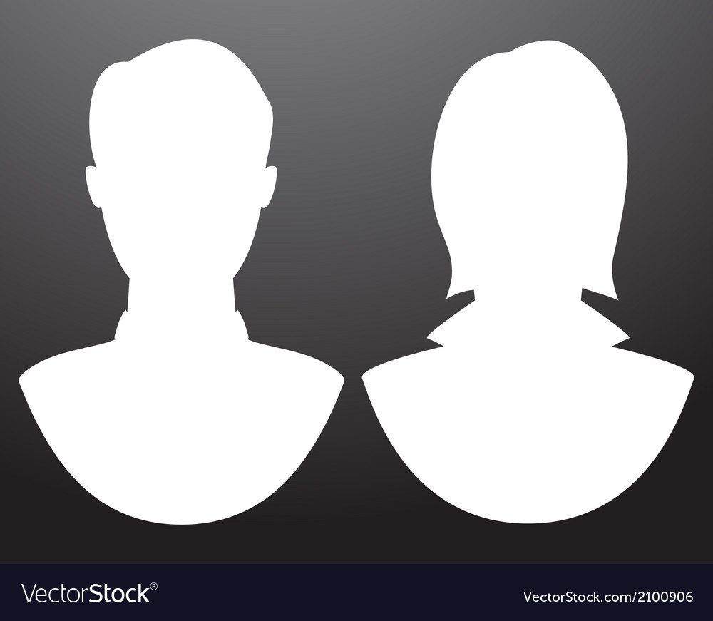 Man and women silhouettes vector | Price: 1 Credit (USD $1)