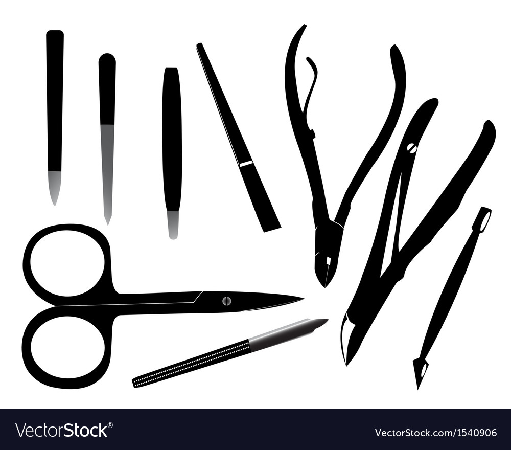Manicure tools vector | Price: 1 Credit (USD $1)