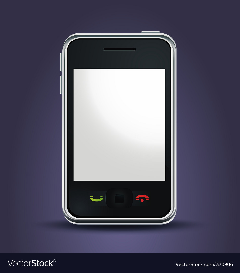 Mobile phone lit up vector | Price: 1 Credit (USD $1)