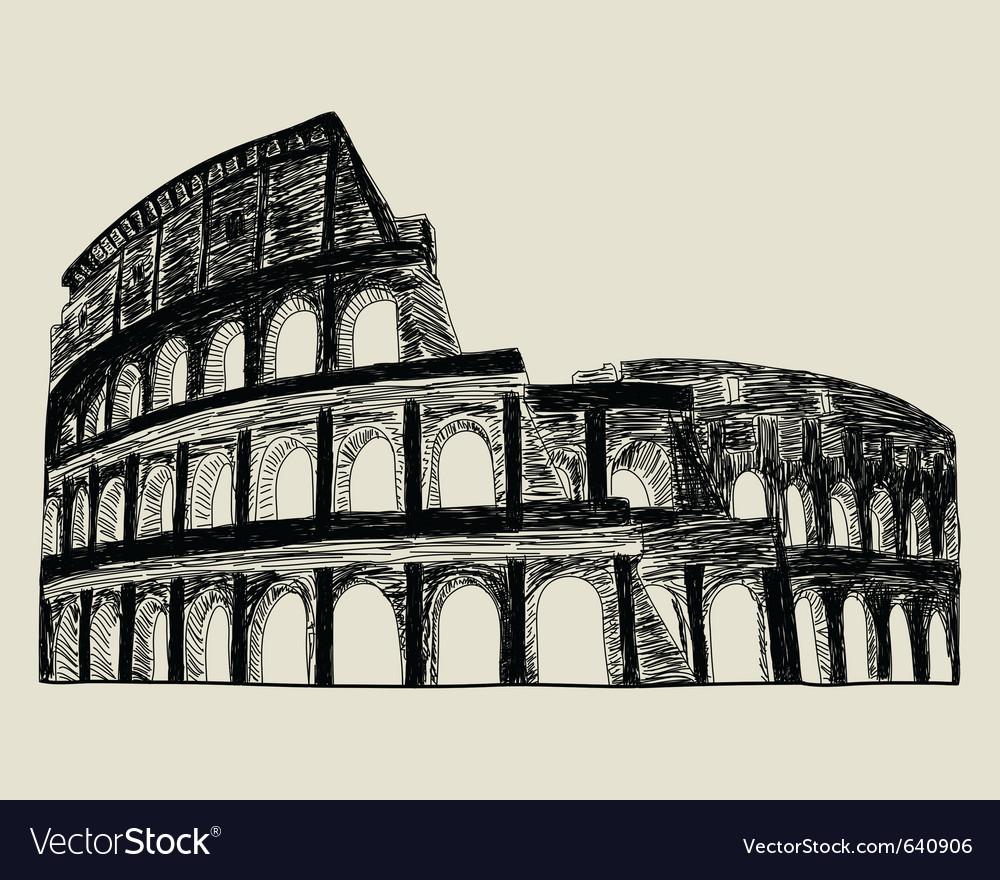 Roman coliseum vector | Price: 1 Credit (USD $1)