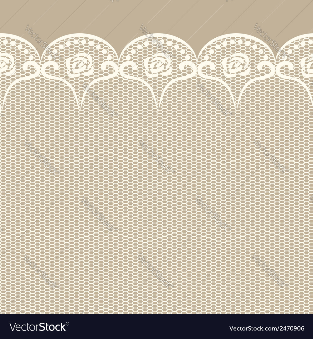 Seamless lacy border vector | Price: 1 Credit (USD $1)