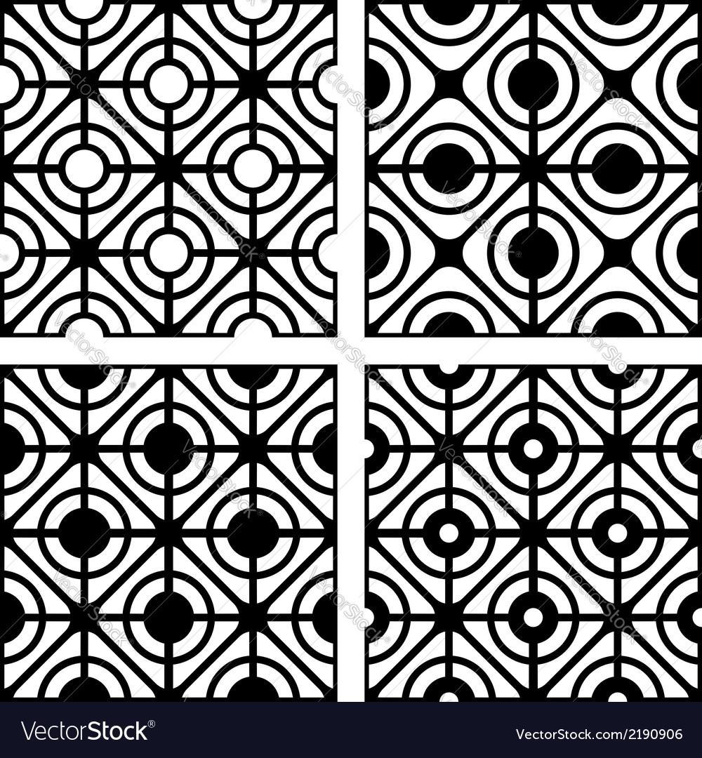 Seamless pattern set vector | Price: 1 Credit (USD $1)