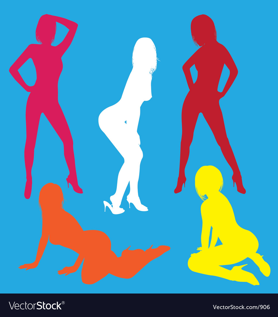 Sexy silhouette collection vector | Price: 1 Credit (USD $1)