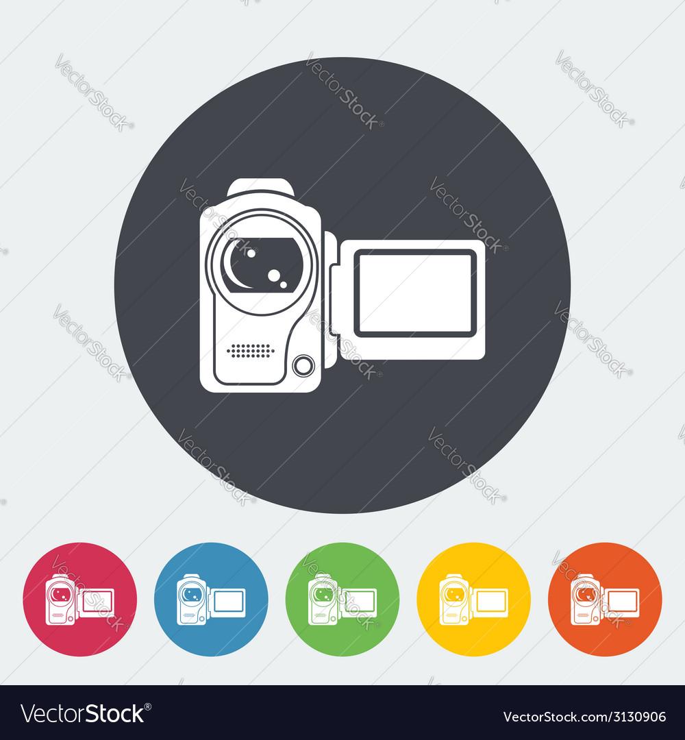 Video camera single icon vector | Price: 1 Credit (USD $1)