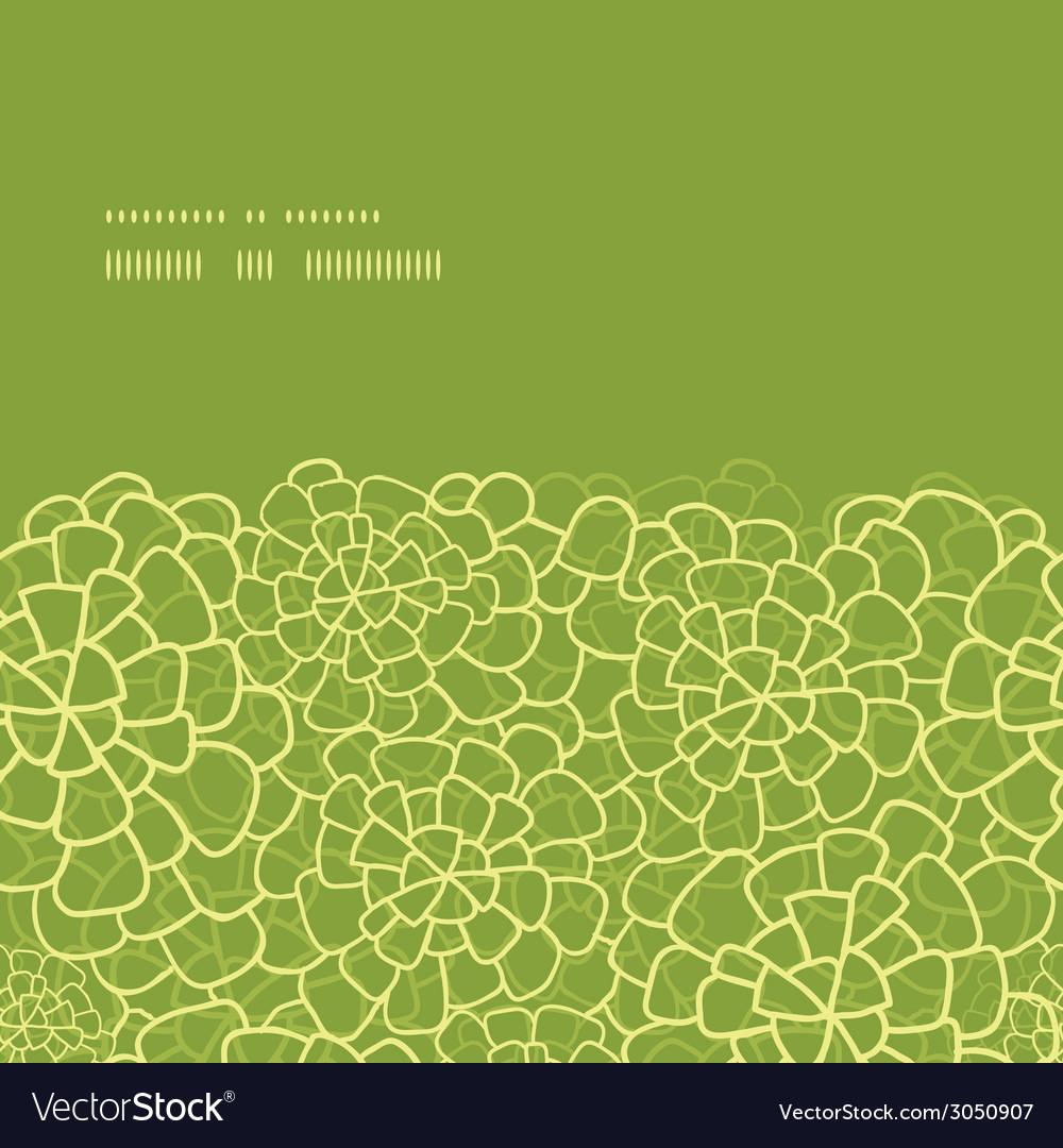 Abstract green natural texture horizontal frame vector | Price: 1 Credit (USD $1)