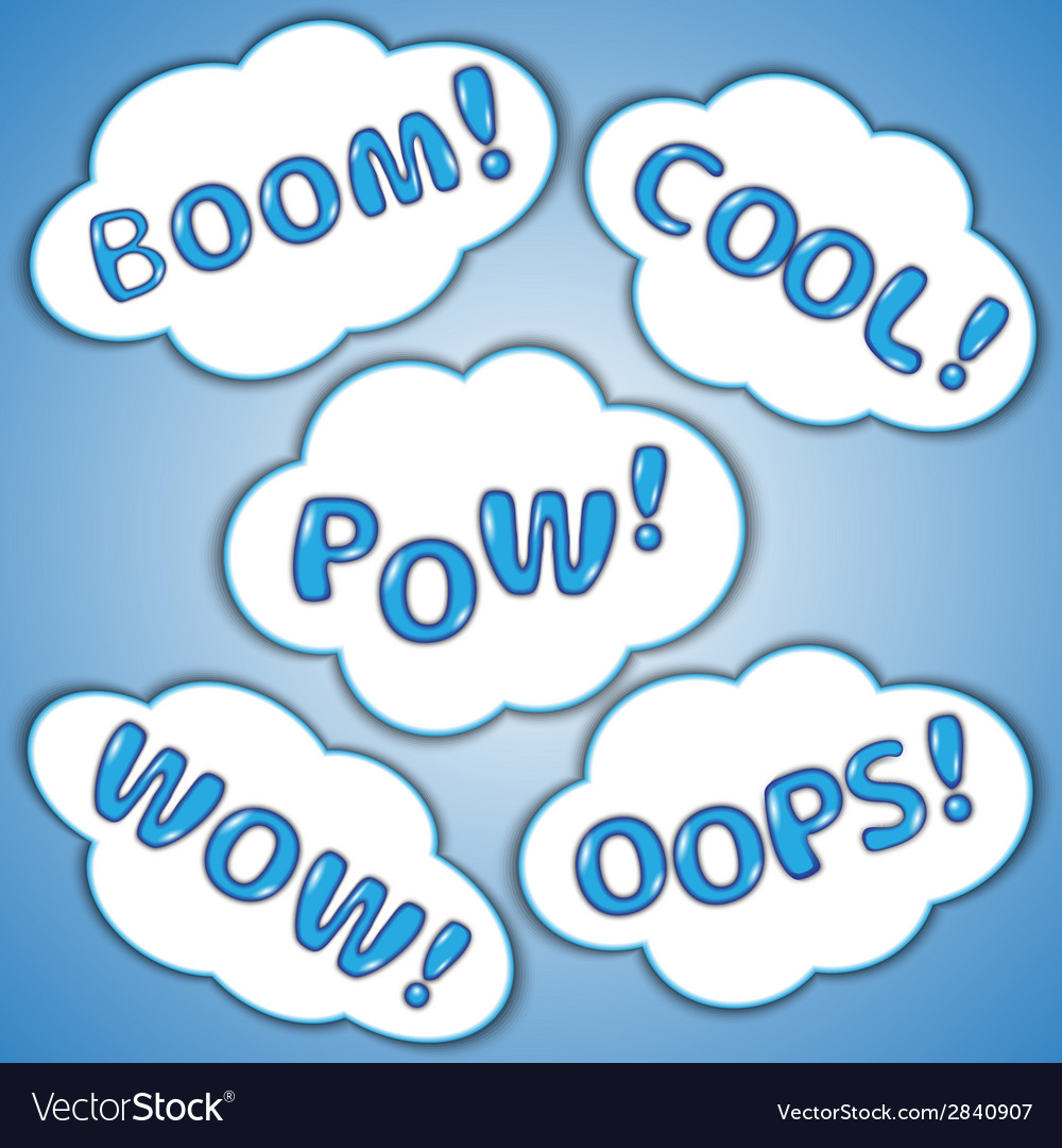 Abstract set of comic bubbles with exclamations vector | Price: 1 Credit (USD $1)