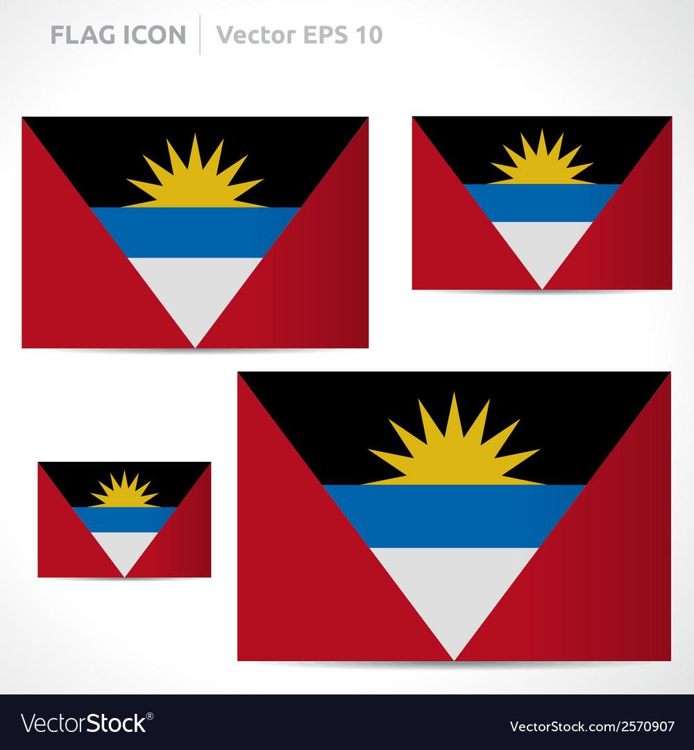 Antigua and barbuda flag template vector | Price: 1 Credit (USD $1)