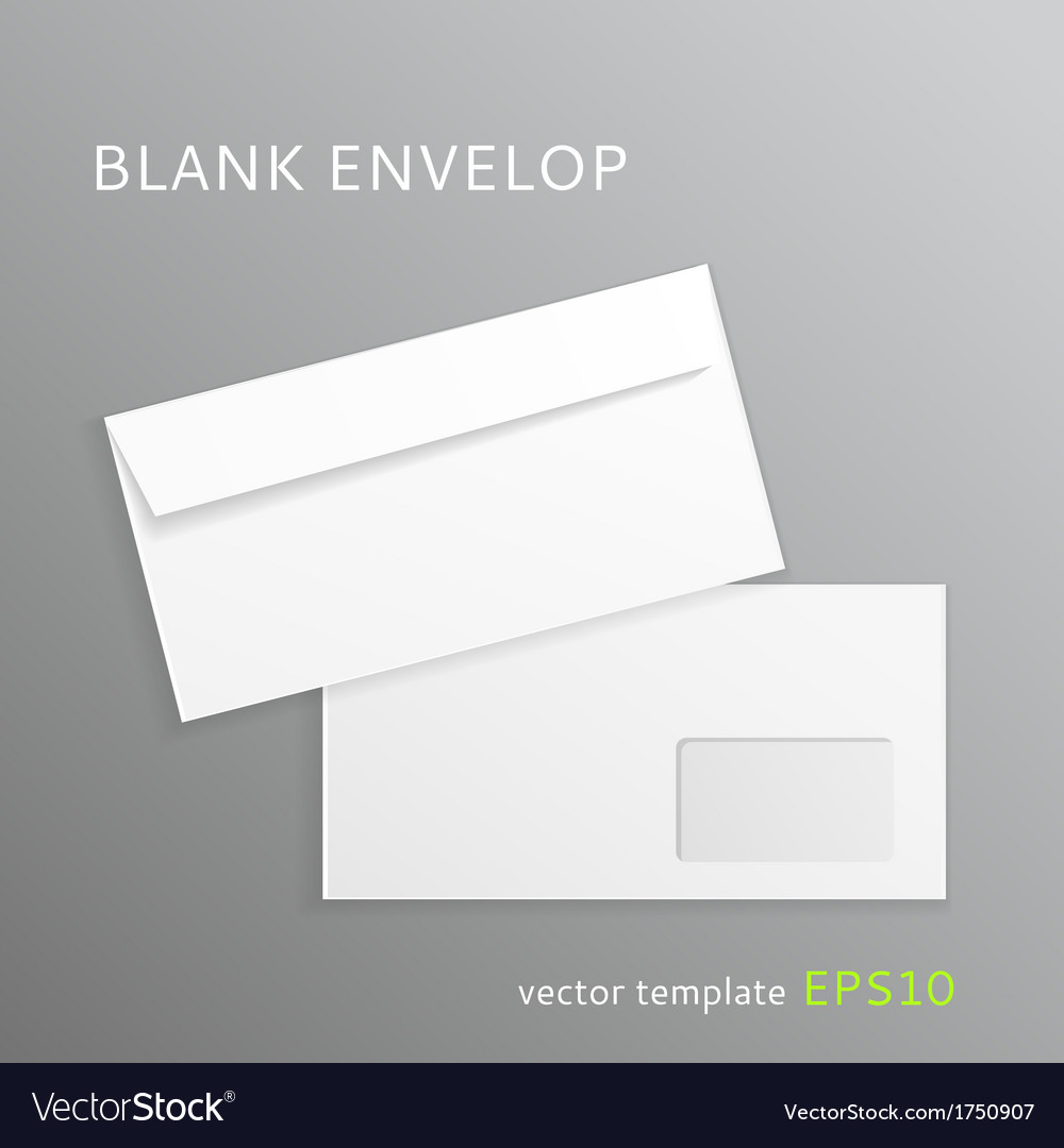 Blank paper envelope vector | Price: 1 Credit (USD $1)