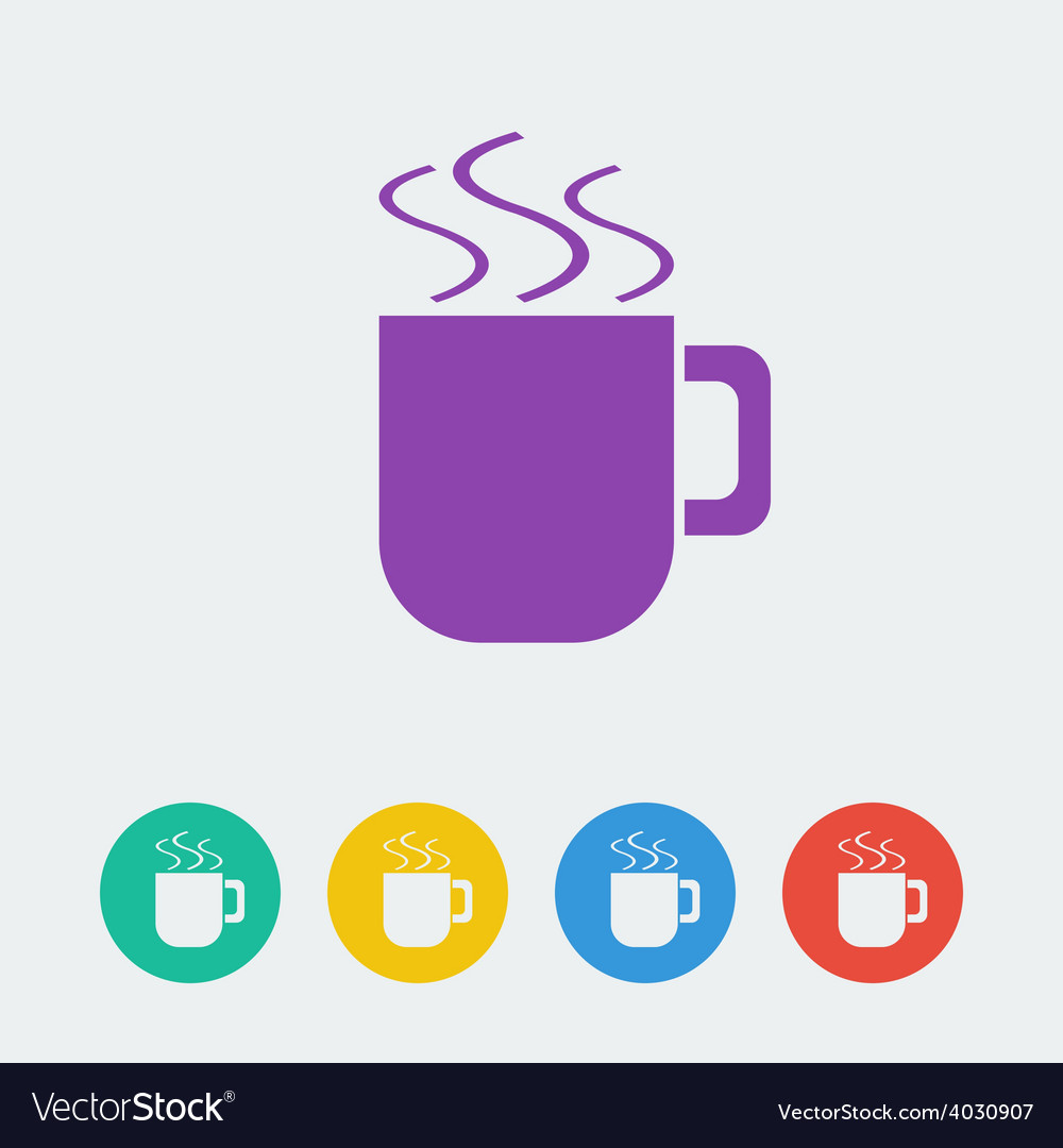 Cup flat circle icon vector | Price: 1 Credit (USD $1)