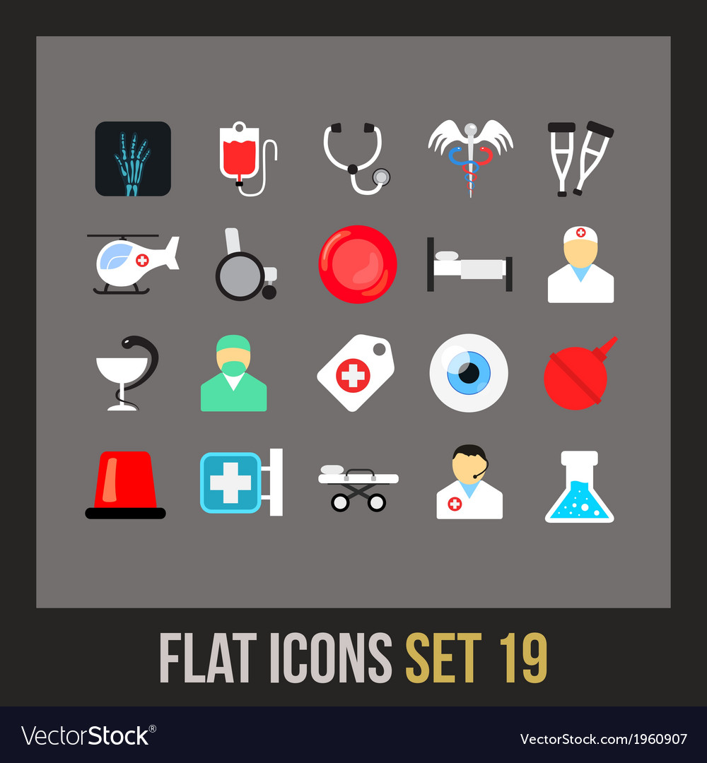 Flat icons set 19 vector | Price: 1 Credit (USD $1)