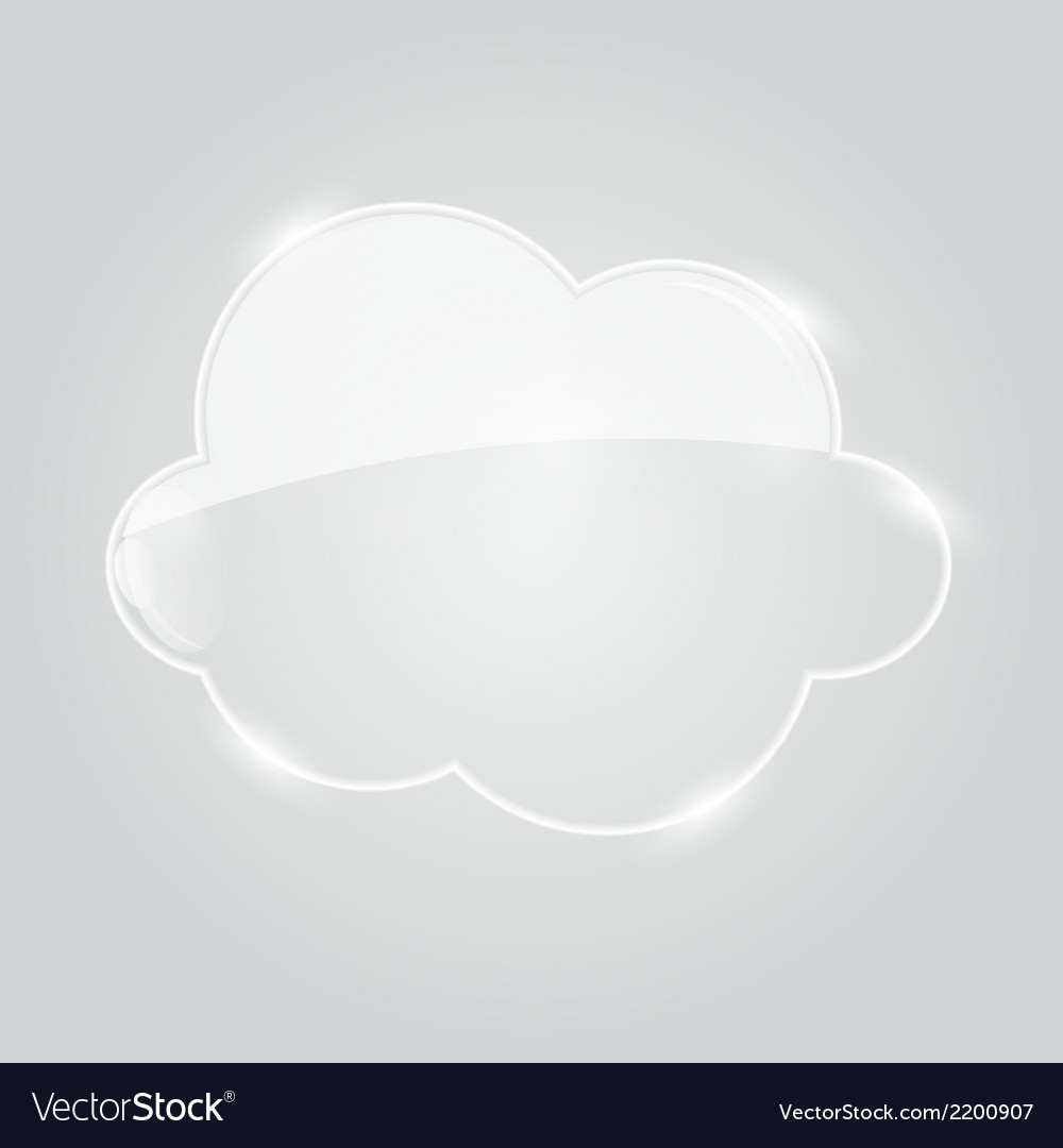 Glass cloud icon vector | Price: 1 Credit (USD $1)
