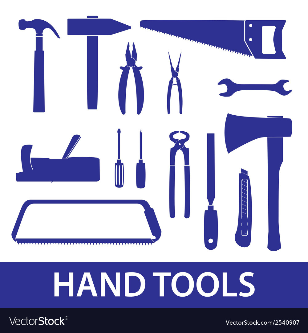 Hand tools icon set eps10 vector | Price: 1 Credit (USD $1)