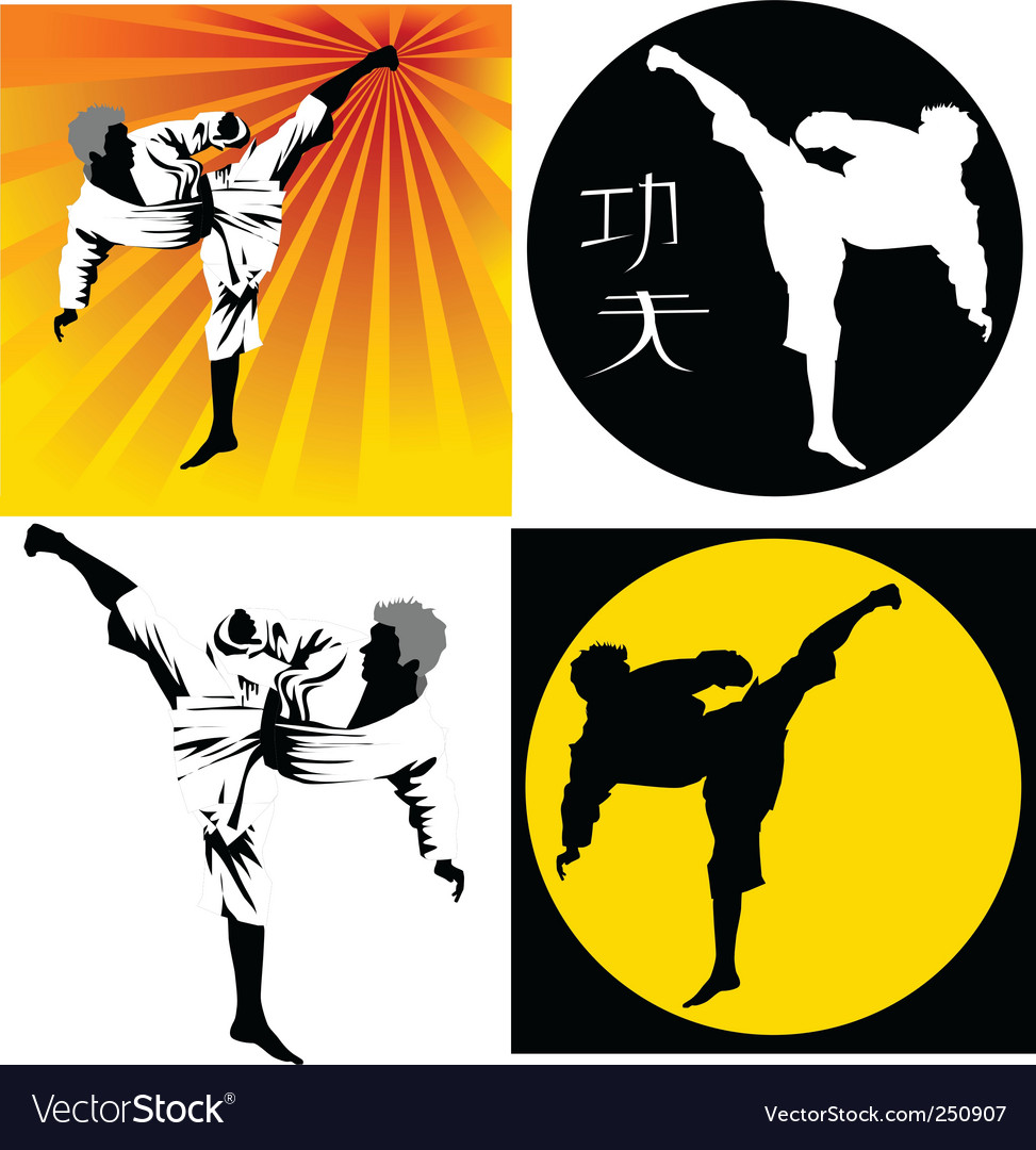 Kung fu vector | Price: 1 Credit (USD $1)