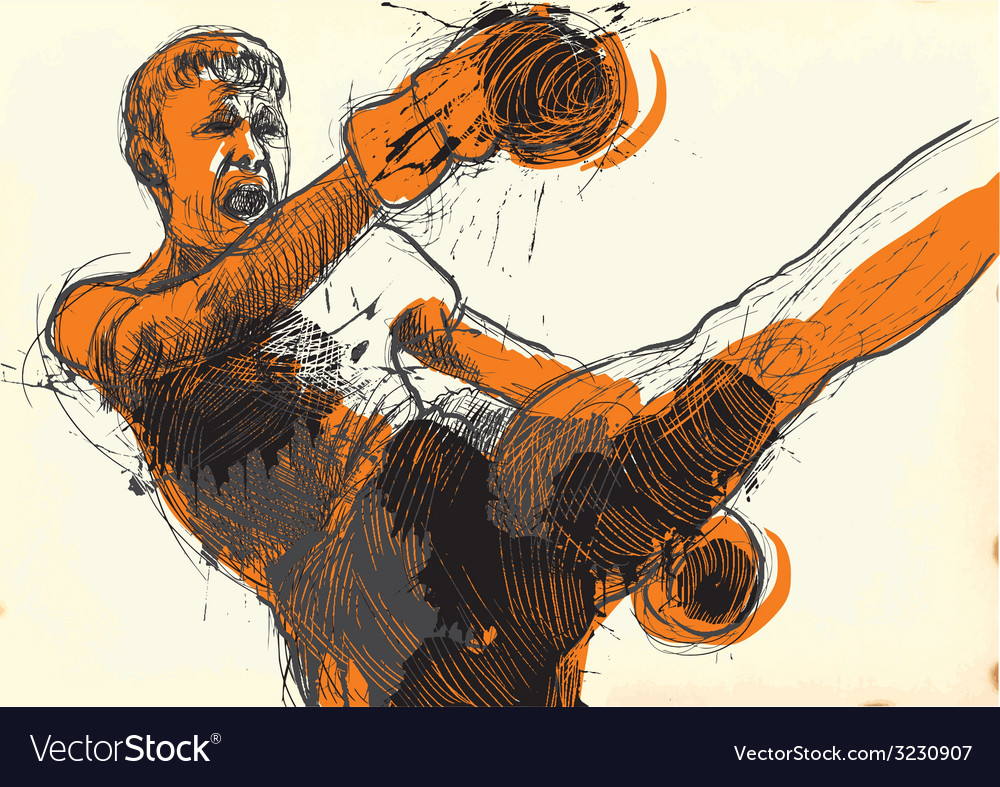 Muay warrior vector | Price: 1 Credit (USD $1)