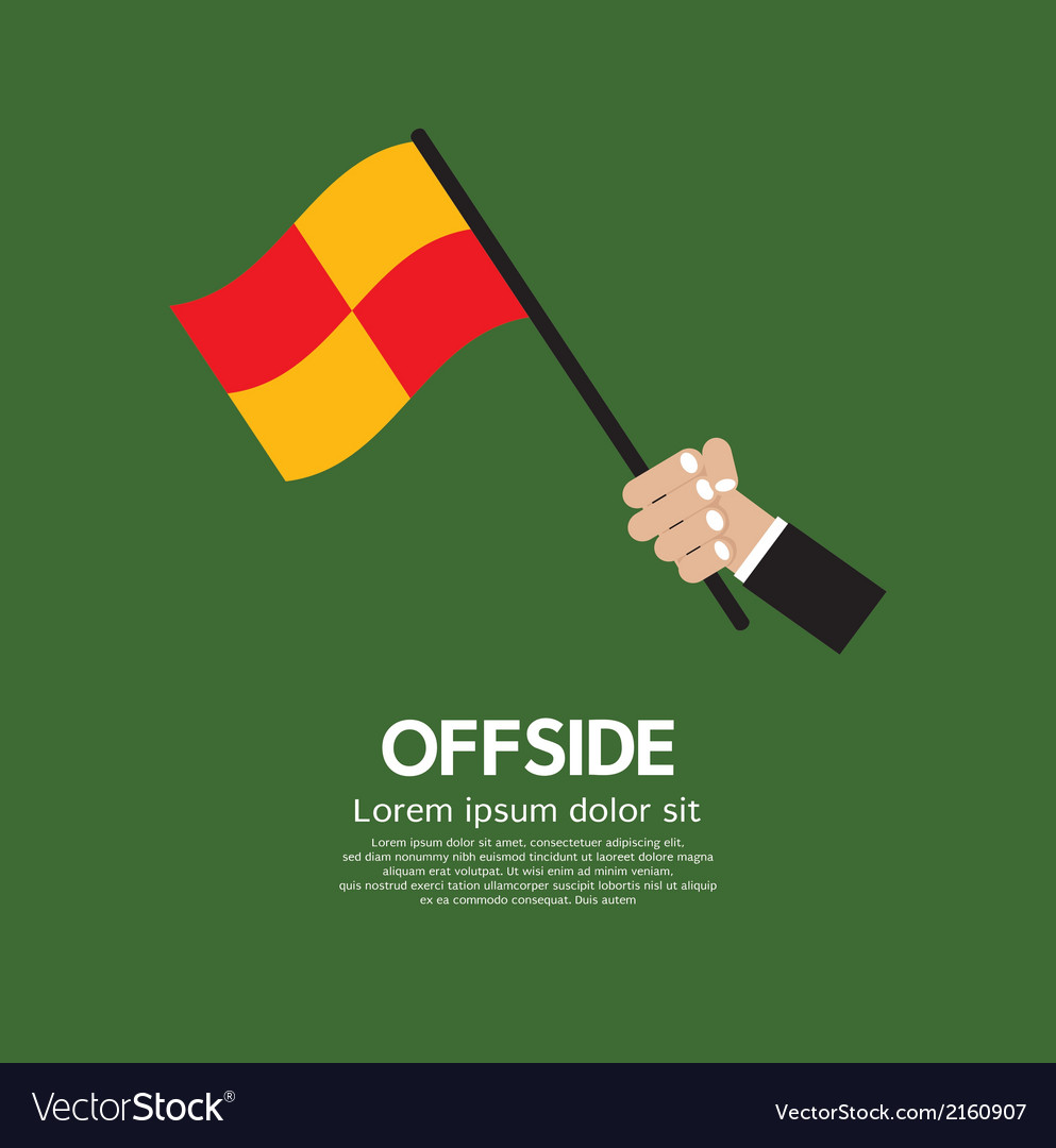 Offside football vector | Price: 1 Credit (USD $1)