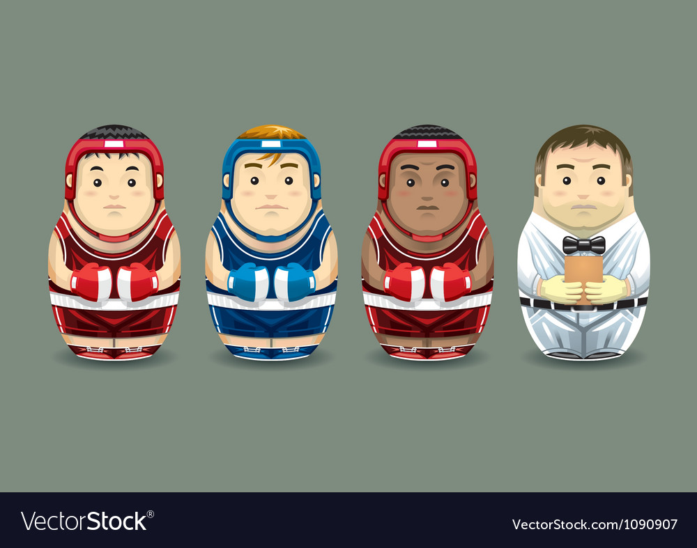 Olympic boxing russian dolls vector | Price: 3 Credit (USD $3)