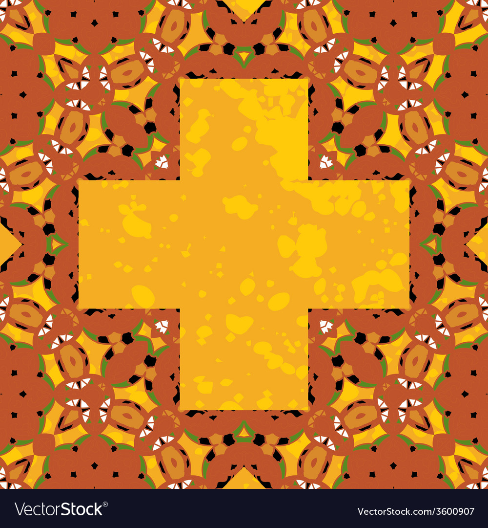 Ornate orient stylized mandala in the shape cross vector | Price: 1 Credit (USD $1)