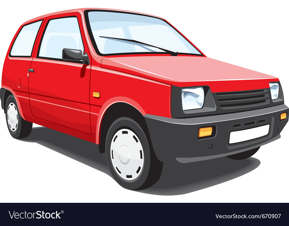 Red city car vector | Price: 3 Credit (USD $3)