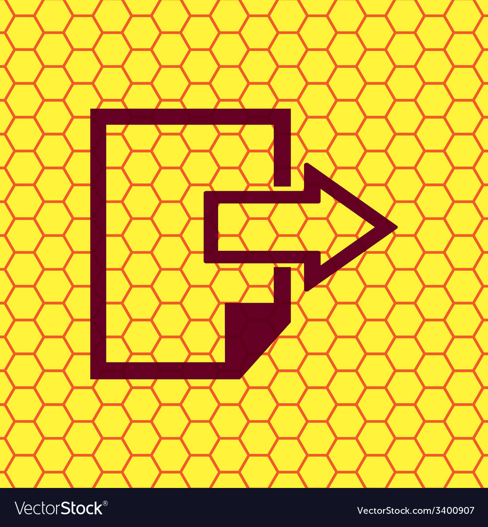 Send export file icon symbol flat modern web vector | Price: 1 Credit (USD $1)