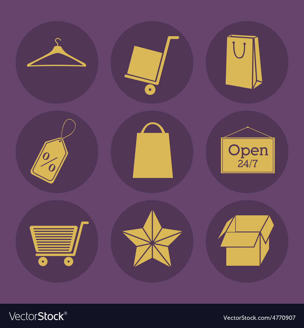 Shopping online design vector | Price: 1 Credit (USD $1)
