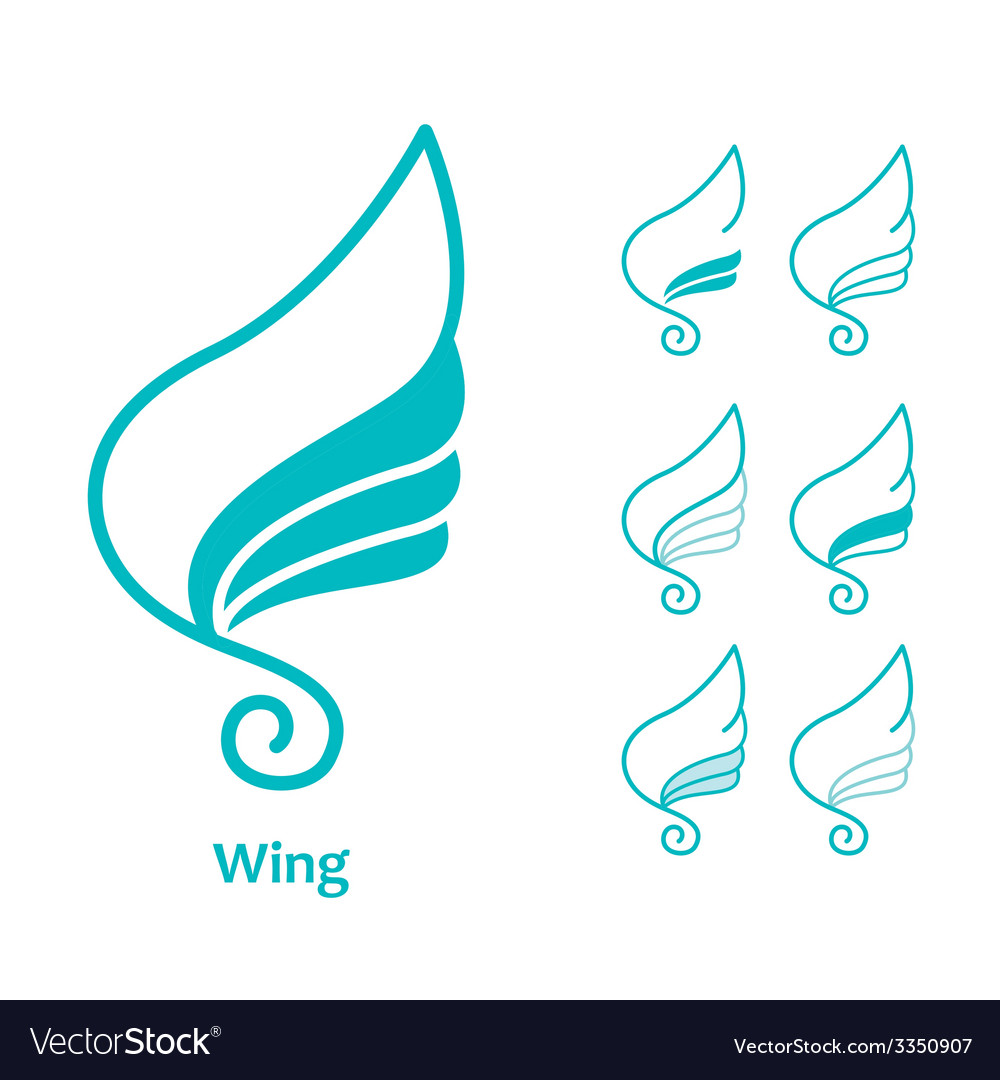 Wings icon vector | Price: 1 Credit (USD $1)