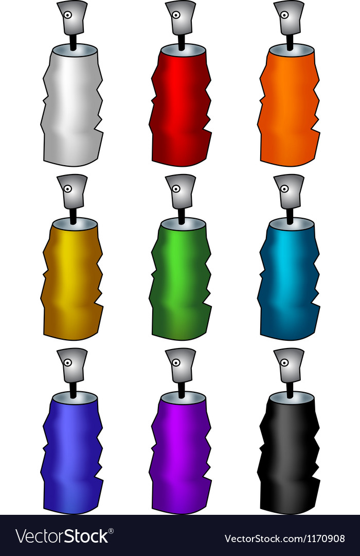 Aerosol cans vector | Price: 1 Credit (USD $1)