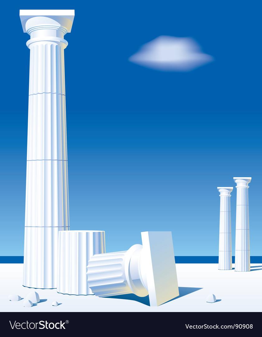 Antic columns vector   Price: 1 Credit (USD $1)