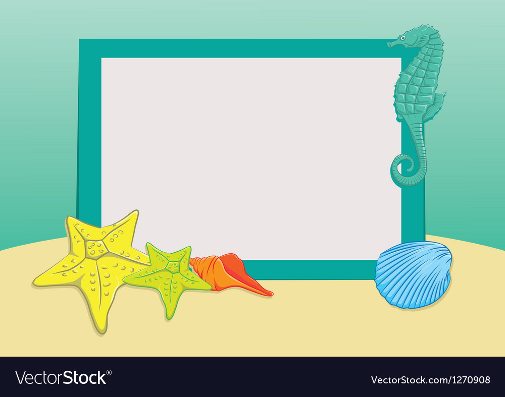 Beach frame vector | Price: 1 Credit (USD $1)