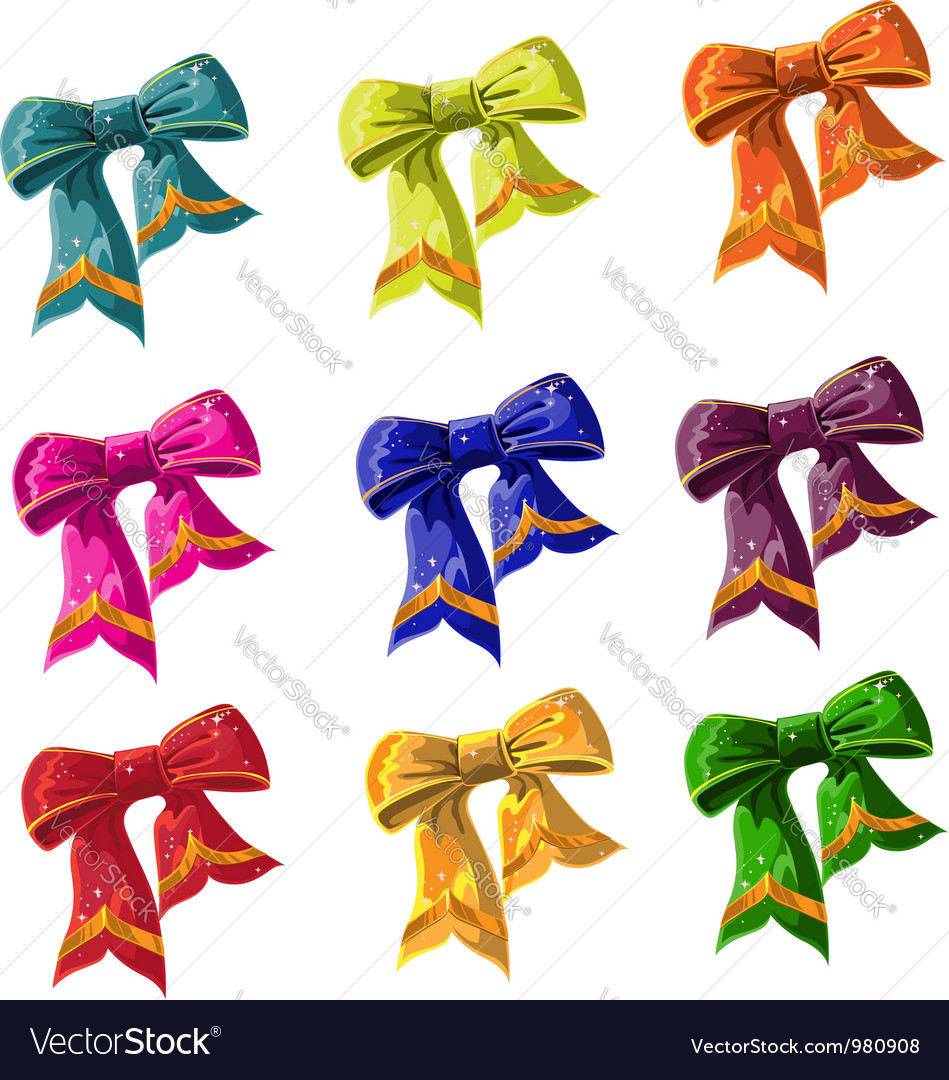 Bow of multicolored with lag vector | Price: 1 Credit (USD $1)