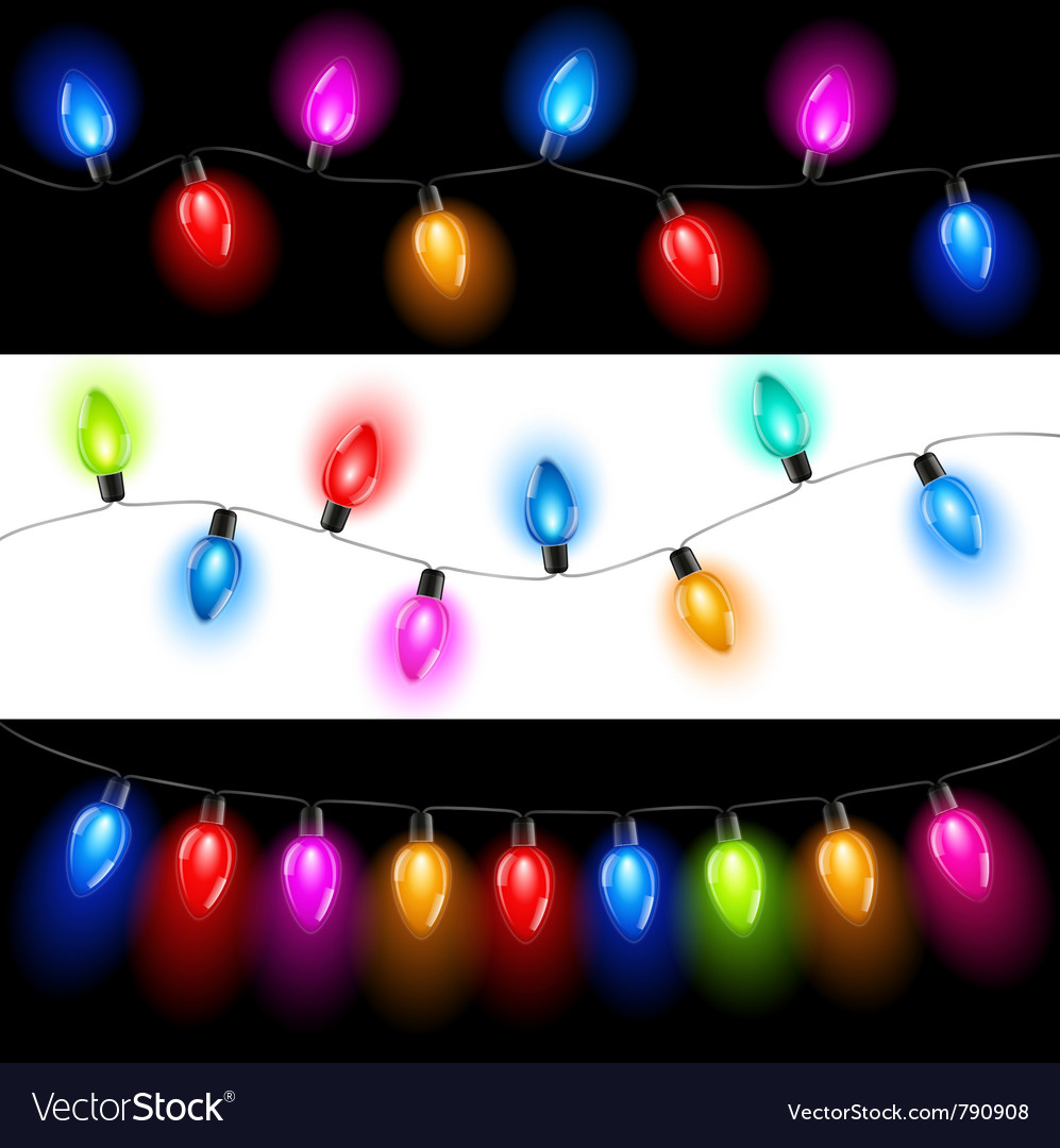 Christmas lights vector | Price: 1 Credit (USD $1)