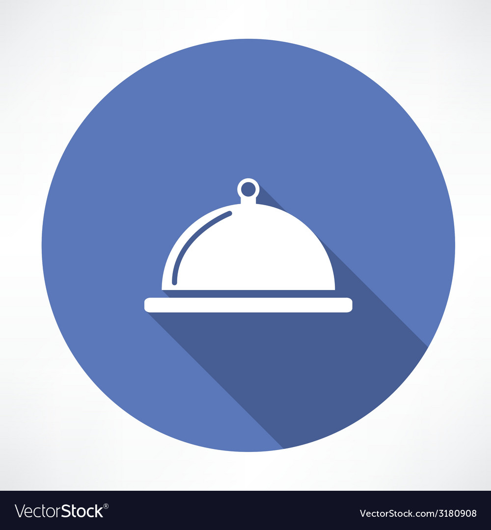 Dish with lid icon vector | Price: 1 Credit (USD $1)
