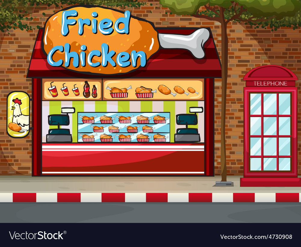 Fastfood shop vector | Price: 3 Credit (USD $3)