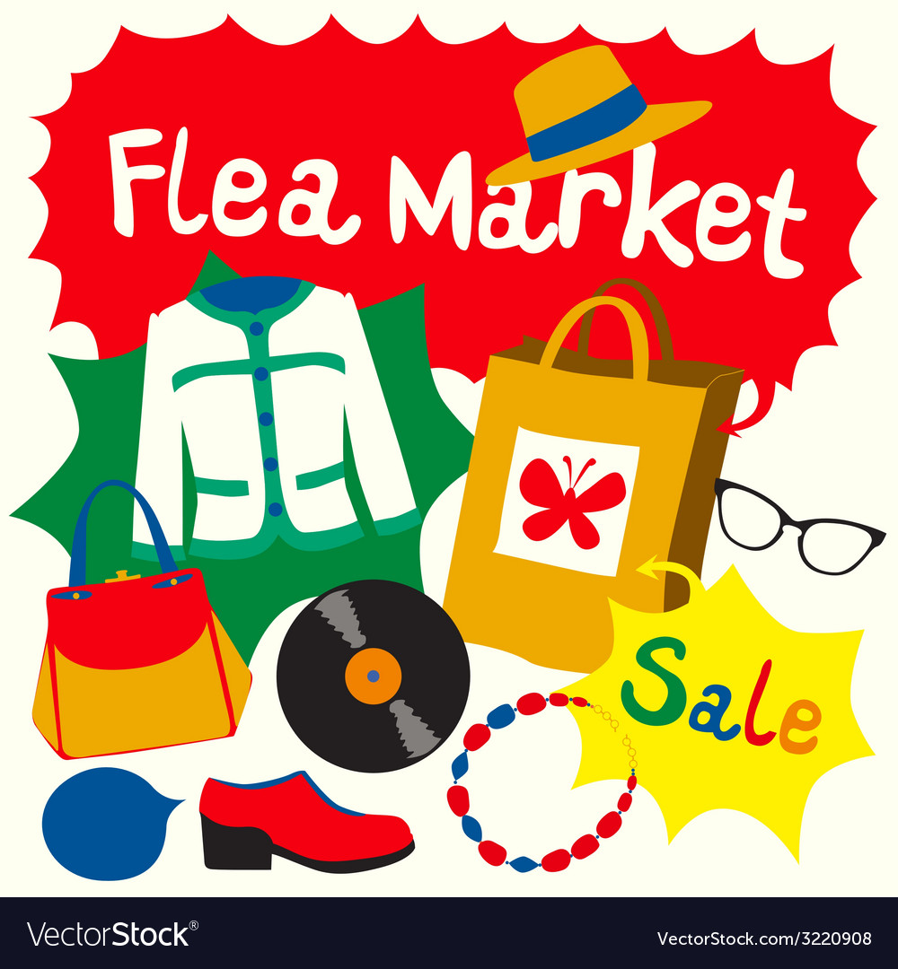 Flea market set vector | Price: 1 Credit (USD $1)