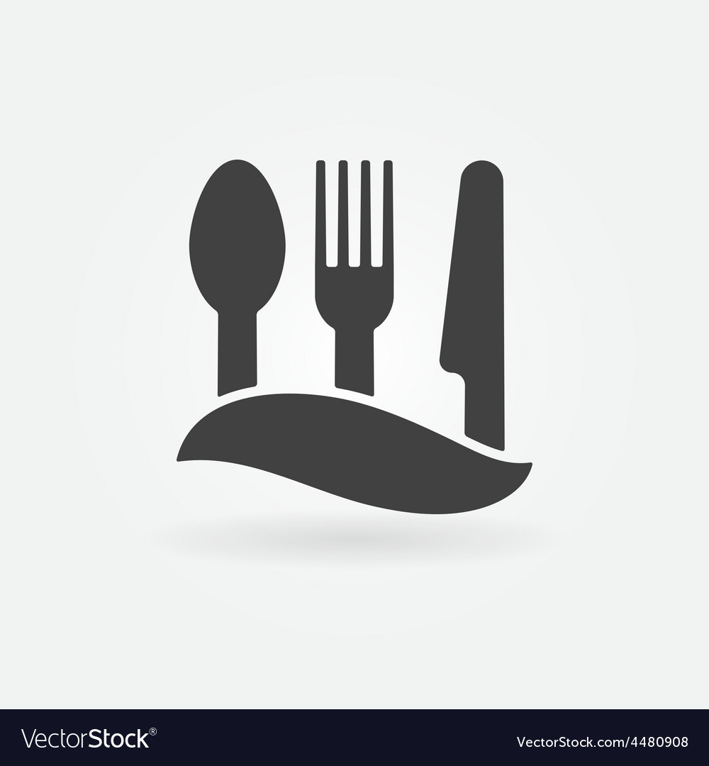 Food or cafe icon vector | Price: 1 Credit (USD $1)