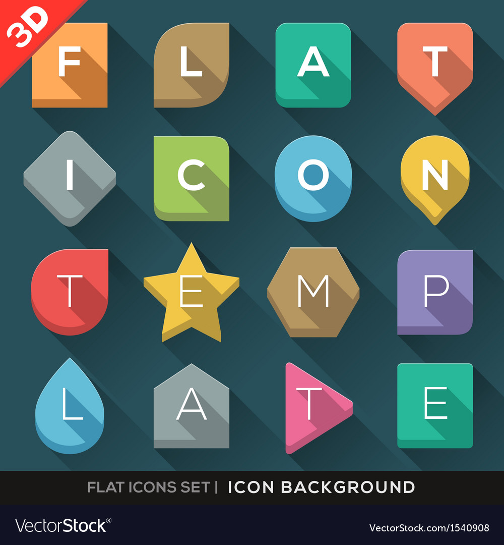 Geometric shapes background for flat icons set vector | Price: 1 Credit (USD $1)