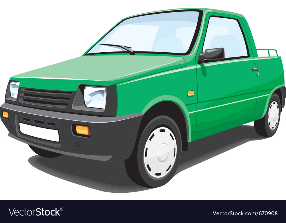 Green pickup vector | Price: 3 Credit (USD $3)