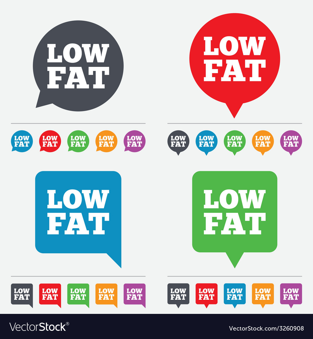 Low fat sign icon salt sugar food symbol vector   Price: 1 Credit (USD $1)