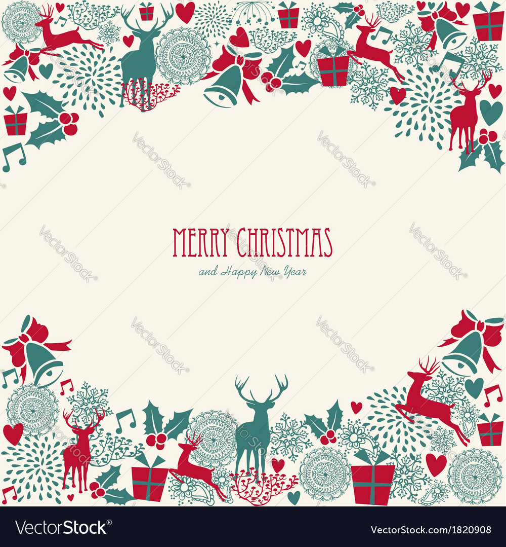 Merry christmas text vintage elements file vector | Price: 1 Credit (USD $1)
