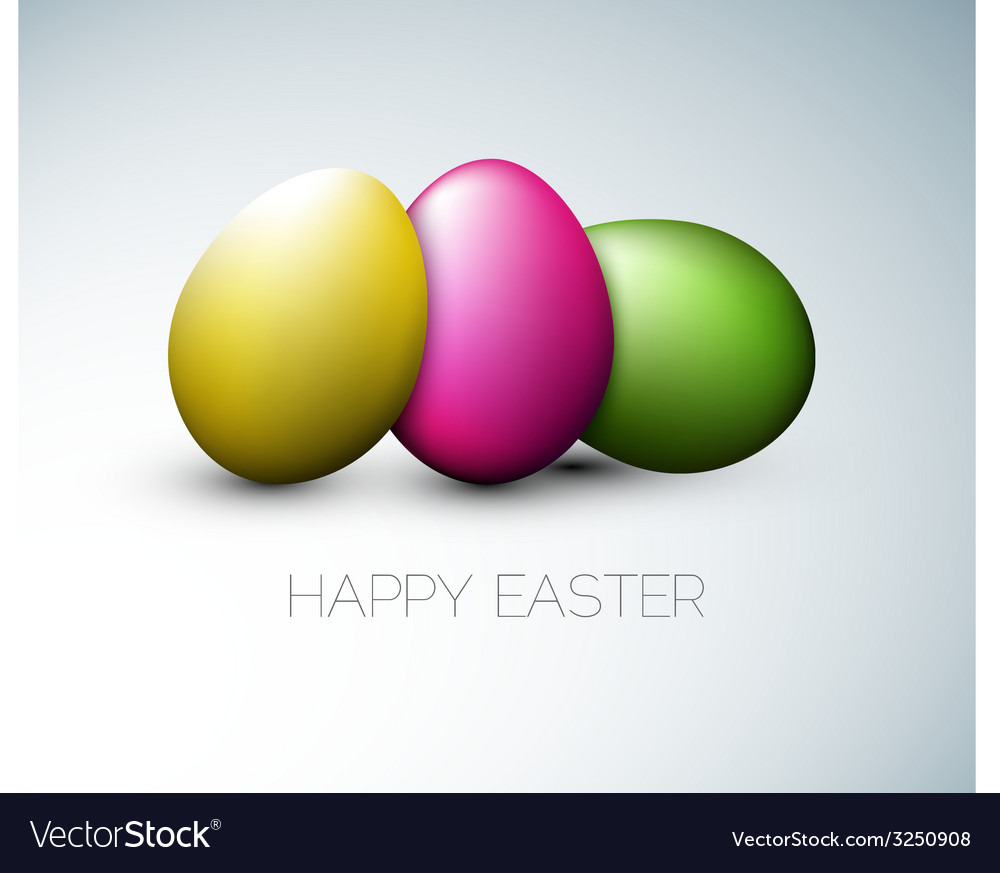 Simple happy easter card vector | Price: 1 Credit (USD $1)