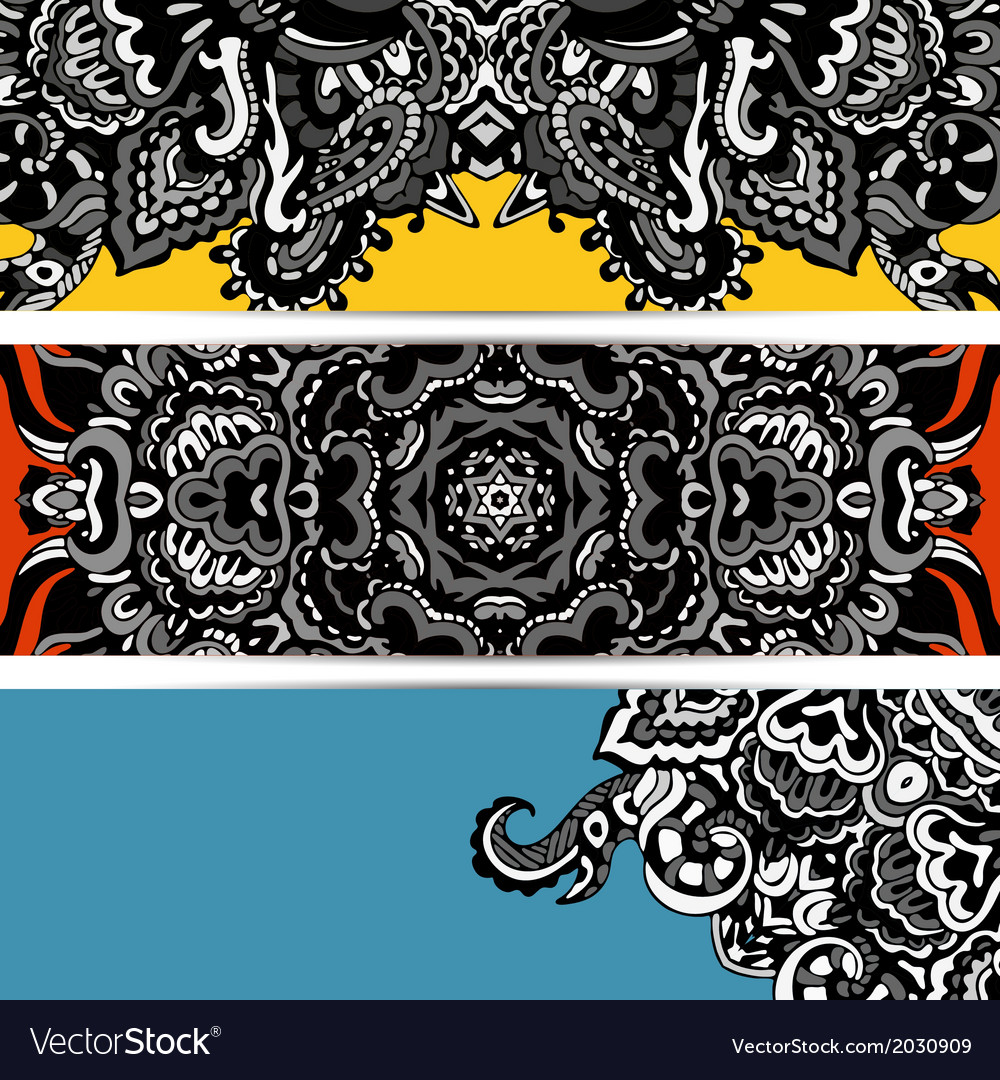 Abstract banner hippie vector | Price: 1 Credit (USD $1)