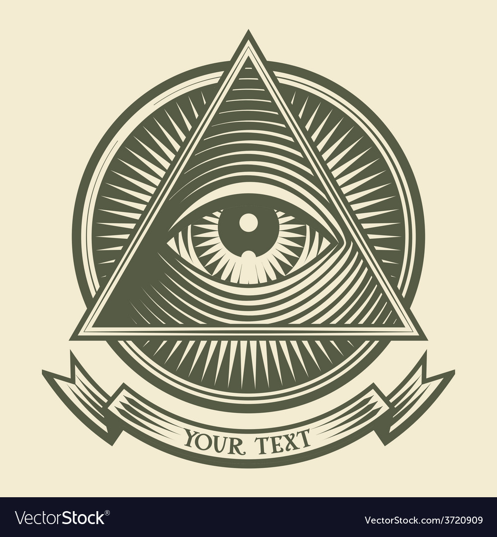 All seeing eye vector | Price: 1 Credit (USD $1)