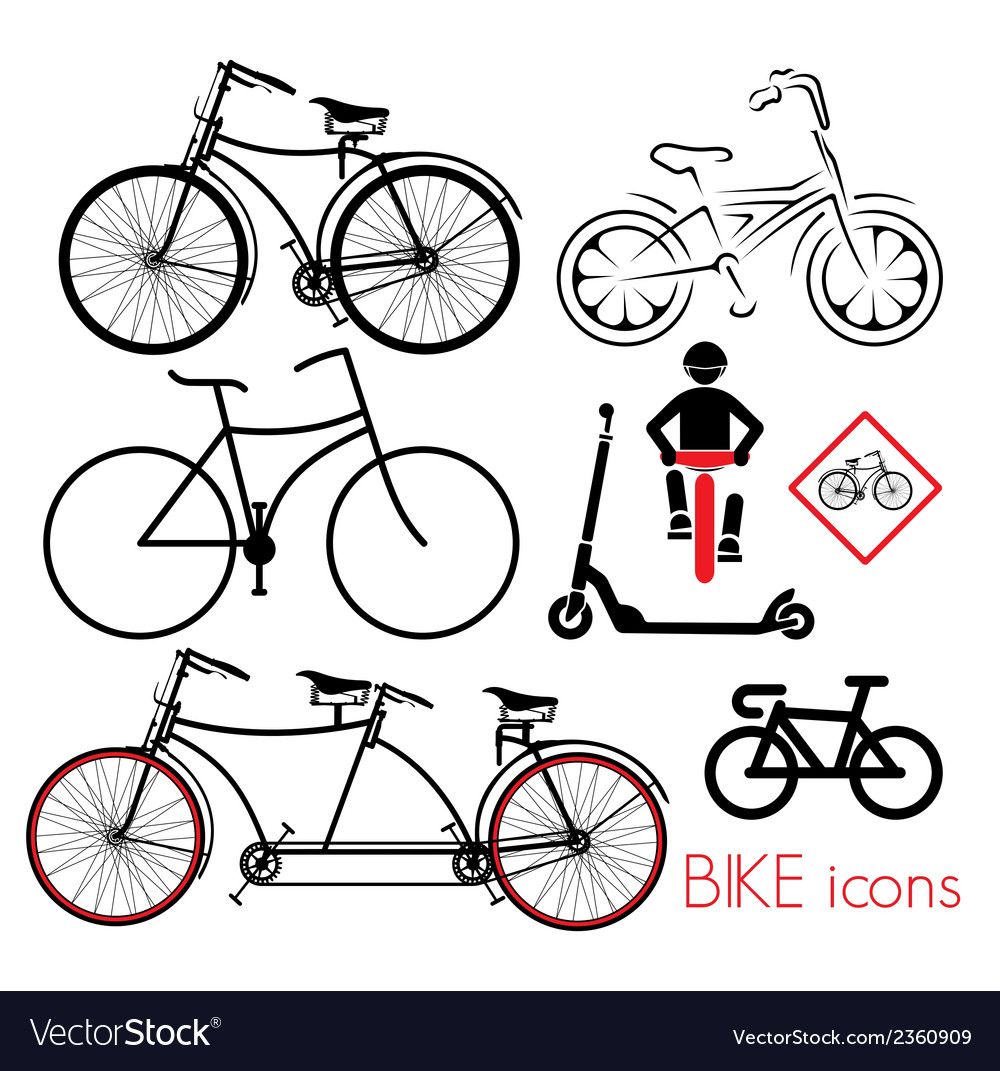 Biciklo varijante2 vector | Price: 1 Credit (USD $1)