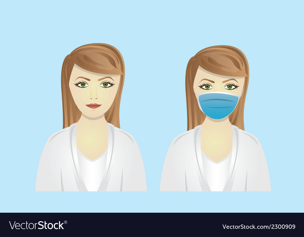 Cartoon doctorisolated on blue background vector | Price: 1 Credit (USD $1)